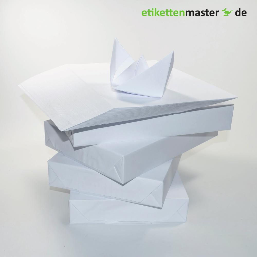 Kopierpapier 210 x 297 mm, Einzelblatt, 500 Blatt geriest