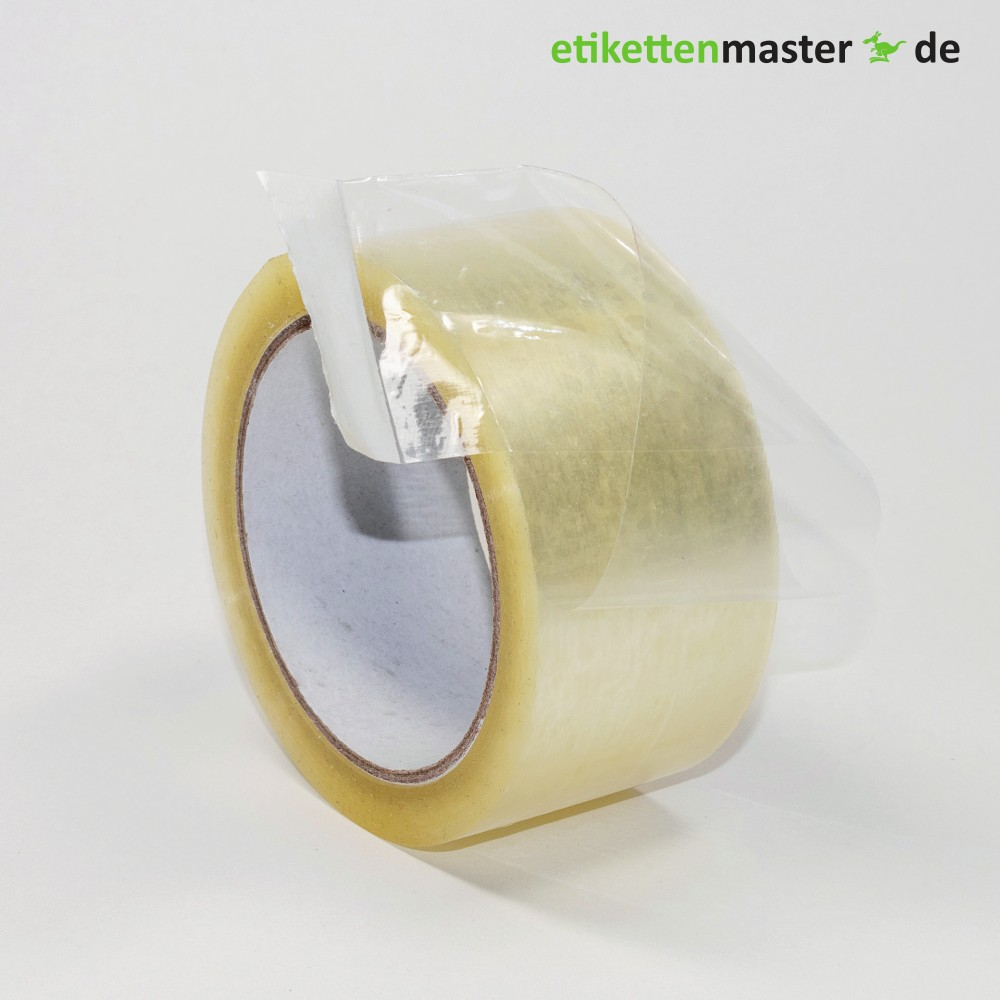Paketklebeband, 50 mm x 66 lfm, Polypropylen, transparent, 28 µ, Kern 76mm